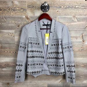 NEW Karen Millen Studded Gray Blazer